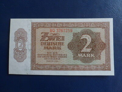 1948 DDR/GDR East German 2 Mark Bank Note-First Issue-UNC Cond.17-379