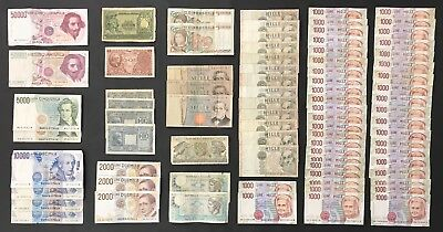 80 X Mixed Banknote Collection - Italy - Europe - Lire - Bulk Lot  (1414)