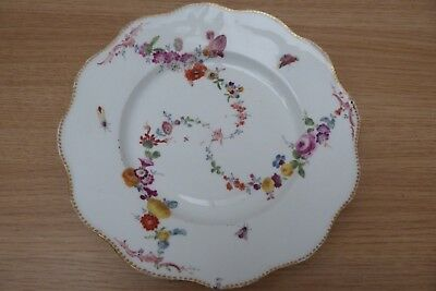 Very Rare 18Thc Bristol Porcelain Soft Paste Handpainted Large Plate Dish.marked