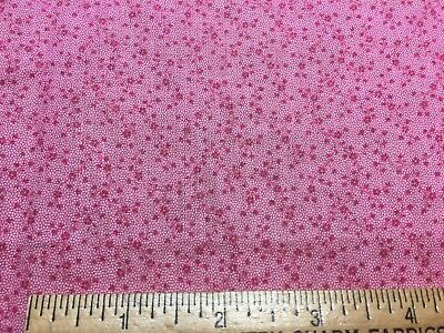 "Antique 1880s Cotton Fabric Double Pink 15"" by 20"""