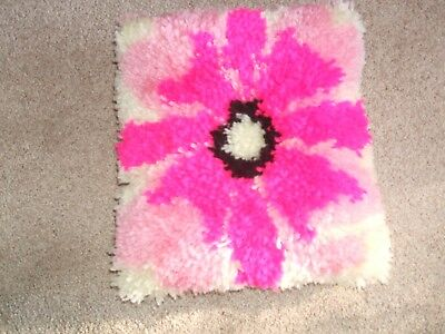 Completed Latch Hook  FLOWER CUSHION