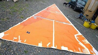 Hyde Laminate racing jib 38ft x 14ft YACHT BOAT RACE headsail some repairs