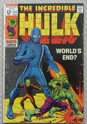 The Incredible Hulk #117, Silver Age Marvel, 1969.