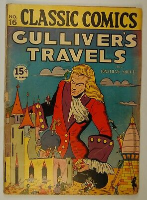 Classic Comics #16 - Gulliver's Travels ([October 1944], Gilberton) 60 pgs Queen