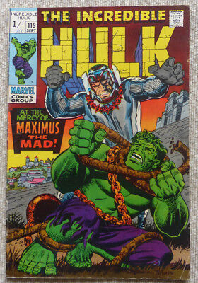 The Incredible Hulk #119, Marvel Silver Age, 1969.