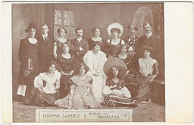 MADAME LLOYD'S CHOIR & ORCHESTRA - c1900s music postcard