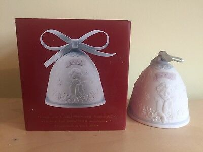 LLADRO 2000 Christmas Bell Ornament in Original Box