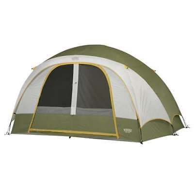 Wenzel 11u0027 x 9u0027 Evergreen 6 Person Family Dome C&ing Tent | 36503 (  sc 1 st  PicClick & COLEMAN Bayside 6-Person Family Dome Camping Tent - Orange/ Grey ...