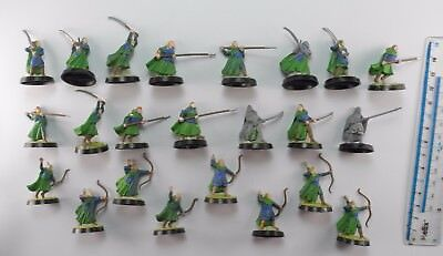 23 WOOD ELF WARRIORS + ARCHERS Plastic Lord of the Rings Hobbit Elves Army 84