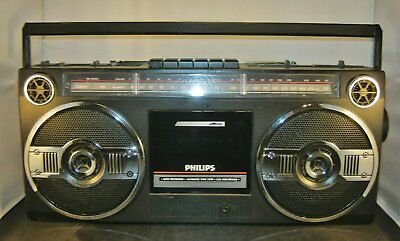 Philips D8025/05 Portable 3 Band Stereo Radio Cassette Recorder: VGC , working