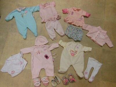 baby annabell clothes and shoes bundle