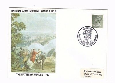 1971 The Battle Of Minden 1747 Army Museum Fdc From Collection X2