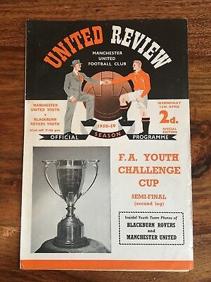 Manchester Utd Youth v Blackburn Rovers Youth  Youth Cup Semi Final 2nd leg 1959