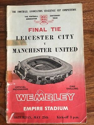 Leicester City v Manchester United FA Cup Final 1963