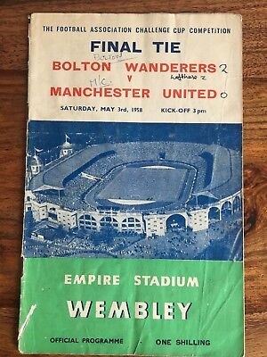 Bolton Wanderers v Manchester United 1958 FA Cup Final