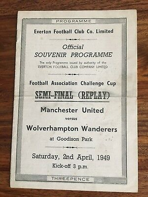 Manchester United v Wolverhampton Wanderers FA Cup Semi Final Replay 1949