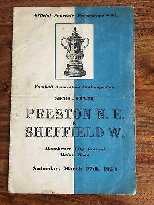 Preston North End V Sheffield Wednesday FA Cup Semi Final 1954