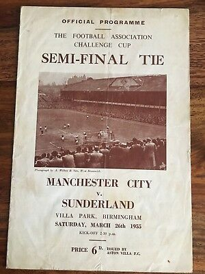 Manchester City v Sunderland FA Cup Semi Final 1955