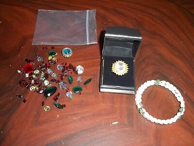 Job Lot Genuine Loose Gemstones, 925 Silver Ring Etc.