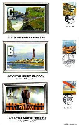 ALL 12 BENHAM BS1213-24 A-Z OF THE UK FDCS 13-10-11 each with SHS F12