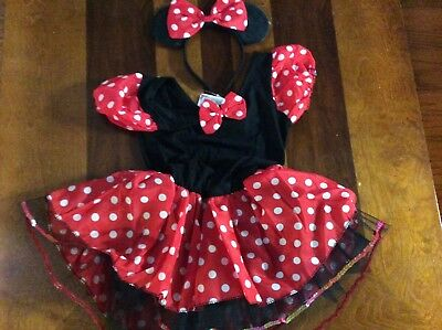 Toddler Girls Minnie Mouse Halloween Costume Size 18-24 Months NWT