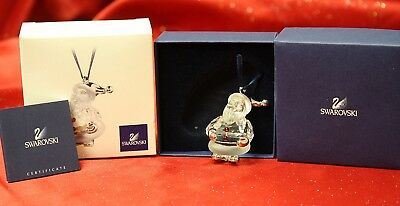 Swarovski Crystal #681336 Santa Claus Rhodium Christmas Ornament! NIB!