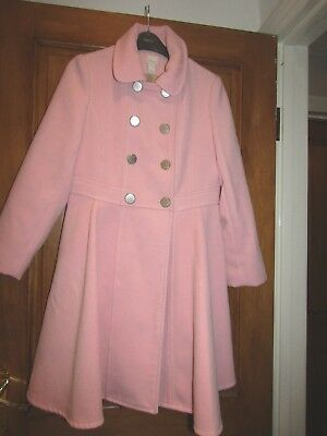 Beautiful pink girls Monsoon Coat aged 12-13 in Excecellant condition very prett