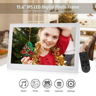 "Andoer 15.6""LCD FULL HD 1080P Digital Photo Frame MP4 Player With Remote Control"