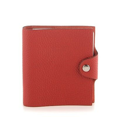 HERMES Togo Leather Ulysse TPM Notebook Cover Red 159125