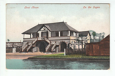 Boat House On The Lagan Belfast Northern Ireland Early 1900's 10556 Old Postcard