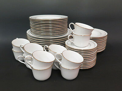 60 Pc. China Set - Noritake 4061 Lockleigh - Dinner Salad Plates, Cups & Saucers