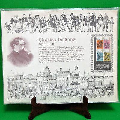 1970 British Post Office Charles Dickens Stamps 12 X 15 Commemorative Poster