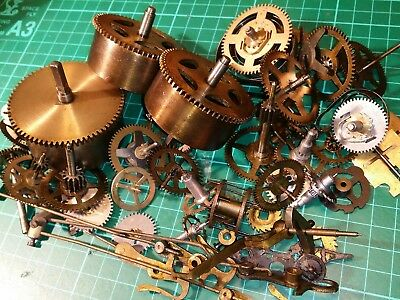 Joblot of Vintage Clock Parts approx Steam Punk, Horology, Crafts cogs gears
