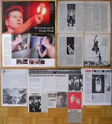 SIMPLE MINDS ** Berichte / Clippings Collection ** NL / Holland / dutch