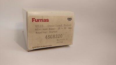 Furnas 48Gh320 Overload Relay 25A-32A Adjustable Range New In Box