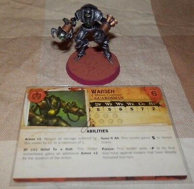 Malifaux Warden (A) miniature with card