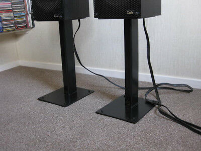 Foundation spiked and weighted Speaker Stands (BLACK)