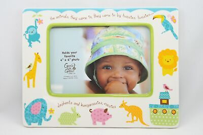 "Enesco Noah's Animals Baby Boy or Girl Frame Fits 4X6"" Photo 4031839"