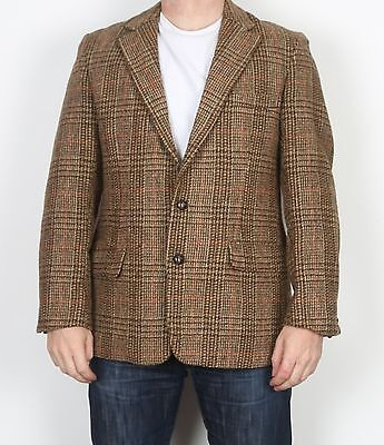 "Harris Tweed 42"" SHORT Medium Large  Jacket Blazer Brown   (H5E)"