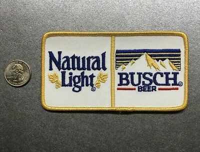 "Natural Light Busch Beer Patch Natty Light Bud Light Budweiser  5.25"" X 2.75"""