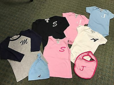 40Pc New Infant/ Toddler Initial Monogramed Clothing/ Accessory Assortment