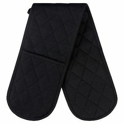 Waitrose black double oven glove