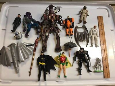 Lot Of 9 Vintage 90's Action Figures Toys Batman Star Wars TMNT Weapon X