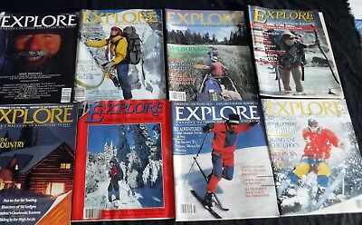 Lot Of 8 Explore 1980s 1990s Outdoor Adventure Magazines Photos Cycling Travel