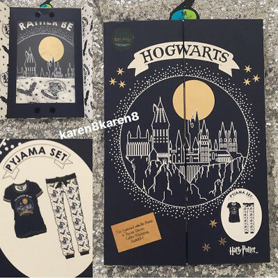 Primark Ladies HARRY POTTER T Shirt Pyjamas Womens Pajamas Gift Box Pjs