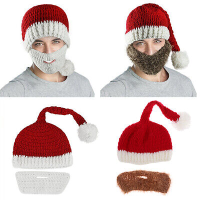 2421e389e79 Christmas Santa Hat With Beard - Moustache Deluxe Xmas Fancy Dress Costume