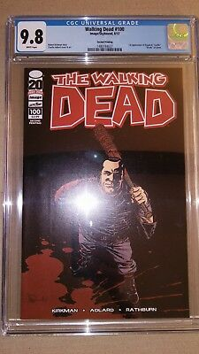 The Walking Dead #100 CGC 9.8 2nd Print Variant First Negan Lucille AMC Show HOT