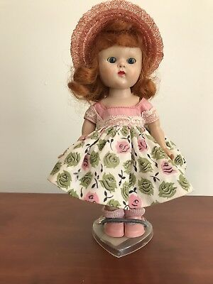"""VINTAGE VOGUE """"MY FIRST CORSAGE""""GINNY OUTFIT #61 w pink hat, shoes, socks"""