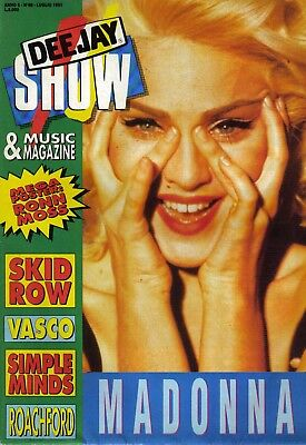 "Madonna full  poster magazine "" Deejay show """