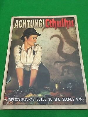 Achtung! Cthulhu Investigators Guide RPG H/B
